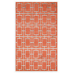 Marilyn Monroe® Deco Glam Coral/silver Powerloomed Area Rug