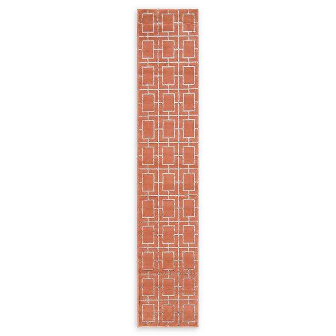Alternate image 1 for Marilyn Monroe® Deco Glam Coral/silver 10' Runner Powerloomed in Coral/silver
