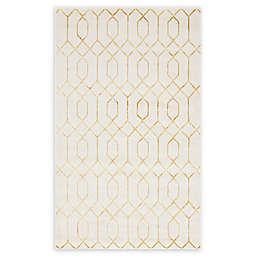 Marilyn Monroe® Trellis Glam Gold Powerloomed Area Rug