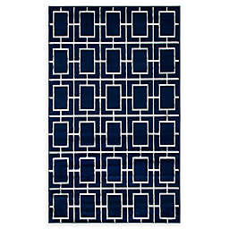 Marilyn Monroe® Deco Glam Navy Blue Powerloomed Area Rug