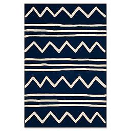 Safavieh Kids® Zigzag 3' x 5' Rug in Navy