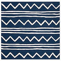 Safavieh Kids® Zigzag 5' x 5' Rug in Navy