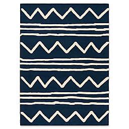 Safavieh Kids® Zigzag 6' x 9' Rug in Navy