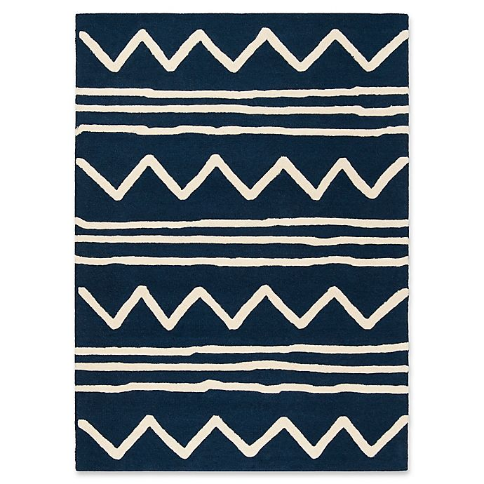 Alternate image 1 for Safavieh Kids® Zigzag 8' x 10' Rug in Navy