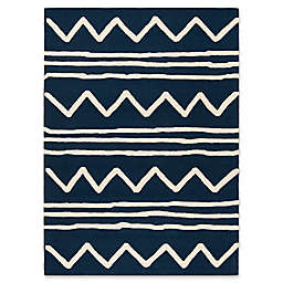 Safavieh Kids® Zigzag 8' x 10' Rug in Navy
