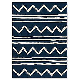 Safavieh Kids® Zigzag 9' x 12' Rug in Navy