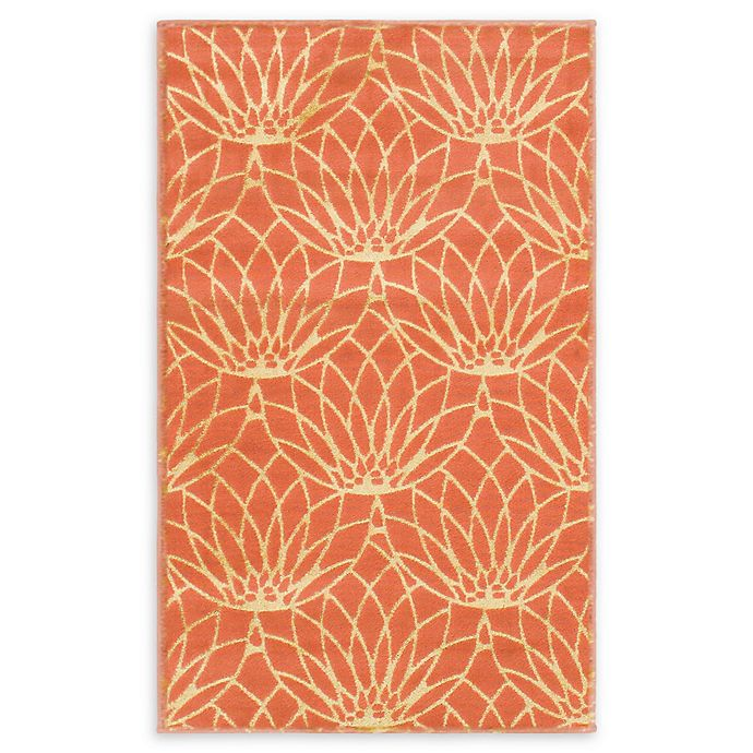 Alternate image 1 for Marilyn Monroe® Dahlia Glam Floral 2' X 3' Powerloomed Area Rug in Coral
