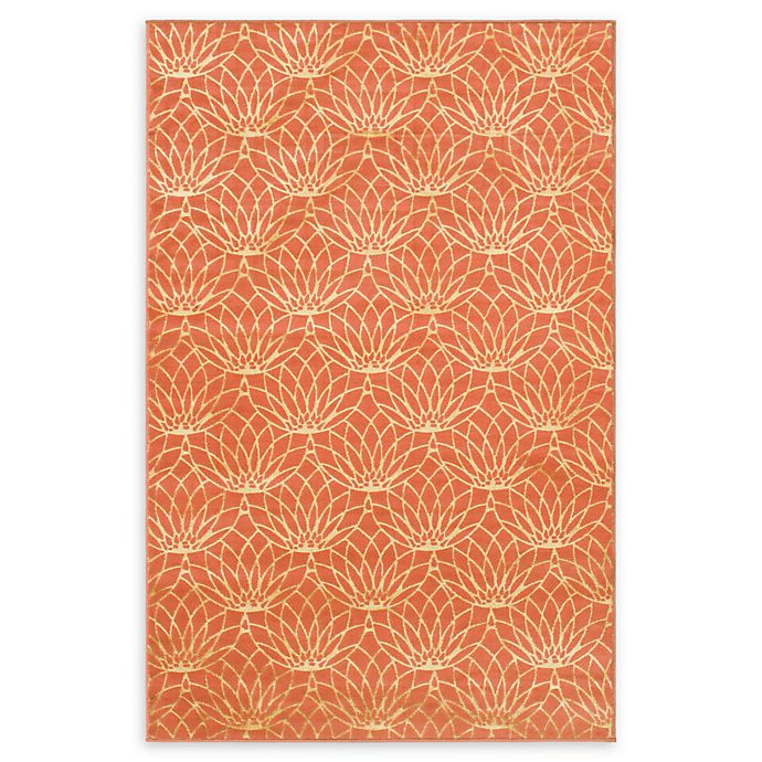 Alternate image 1 for Marilyn Monroe® Dahlia Glam Floral 4' X 6' Powerloomed Area Rug in Coral