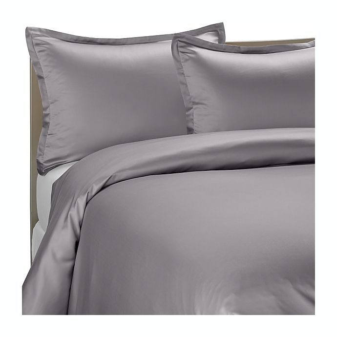 Alternate image 1 for Pure Beech® Modal Sateen Duvet Cover Set in Grey
