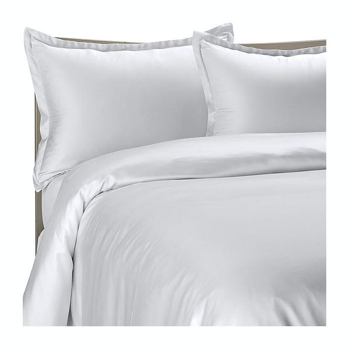 Alternate image 1 for Pure Beech® Modal Sateen Duvet Cover Set in White