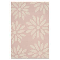 Safavieh Kids Daisy 4' x 6' Handcrafted Area Rug in Pink/Ivory