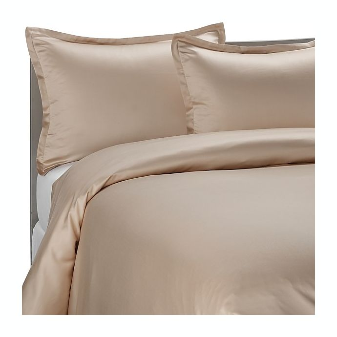 Pure Beech 174 Sateen Duvet Cover Set In Champagne Bed