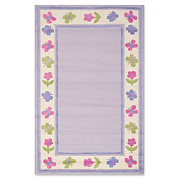 Safavieh Kids® Butterfly Border Rug in Lavendar