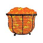 Himalayan Glow® Ionic Crystal Salt Basket Tall Lamp