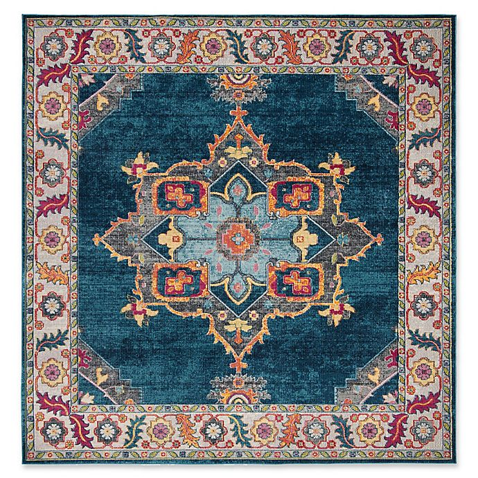 Alternate image 1 for Safavieh Merlot Fletcher 6'7 x 6'7 Power-Loomed Area Rug in Blue