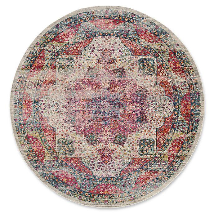Alternate image 1 for Safavieh Merlot Ravi 6'7 Round Area Rug in Cream