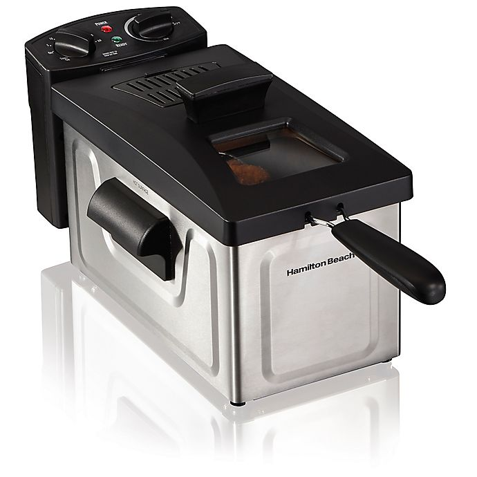 Alternate image 1 for Hamilton Beach® 8-Cup Deep Fryer in Stainless Steel/Black