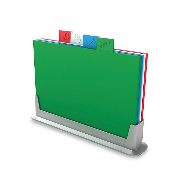 Alternate image 1 for Joseph Joseph® 5-Piece Index Color Coded Chopping Board Set