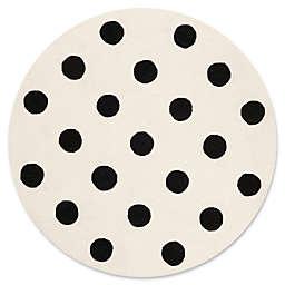 Safavieh Kids® Dots 5' Round Area Rug in Black