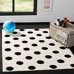 Safavieh Kids® Dots 5' x 7' Rug in Black