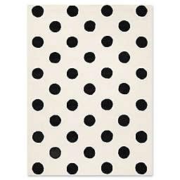 Safavieh Kids® Dots 6' x 9' Rug in Black