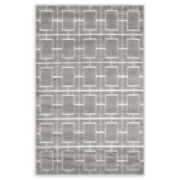 Alternate image 1 for Marilyn Monroe® Deco Glam Grey/white 4' X 6' Powerloomed Area Rug in Gray/white