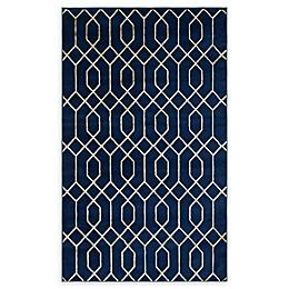 Marilyn Monroe® Trellis Glam Navy Blue/white Powerloomed Area Rug