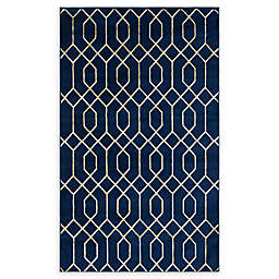 Marilyn Monroe® Trellis Glam Navy Blue/white Powerloomed Area Rug