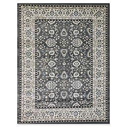 Dynamic Rugs® Yazd Kashan Round Area Rug in Grey/Ivory