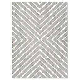 Safavieh Kids Diamond 6' x 9' Handcrafted Area Rug in Grey/Ivory