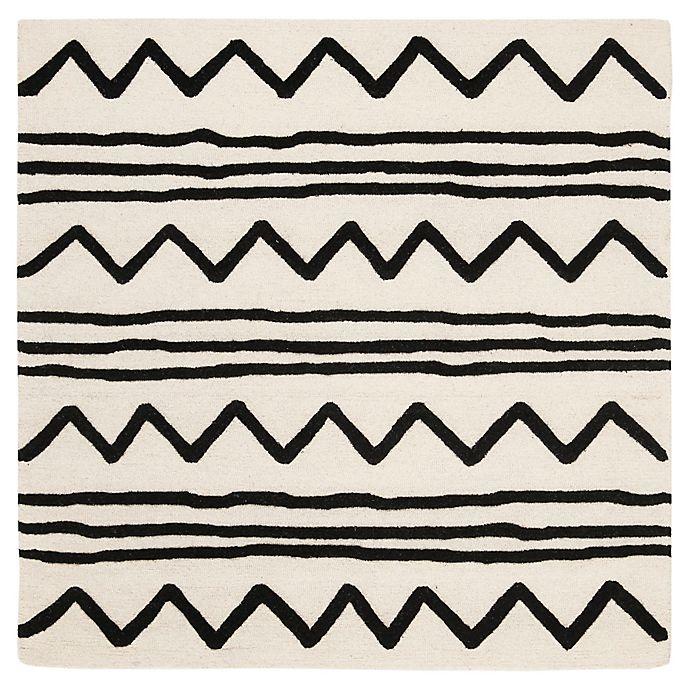 Alternate image 1 for Safavieh Kids® Zigzag 5' x 5' Rug in Ivory