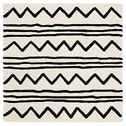 Safavieh Kids® Zigzag 5' x 5' Rug in Ivory