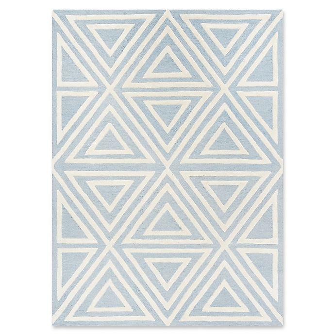 Alternate image 1 for Safavieh Kids® Triangles Rug in Blue