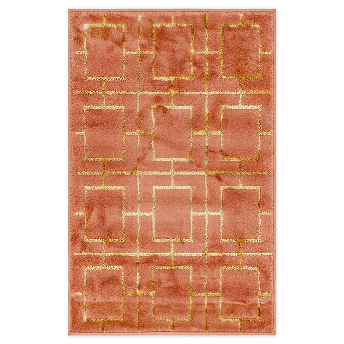 Alternate image 1 for Marilyn Monroe® Deco Glam Coral 2' X 3' Powerloomed Area Rug in Coral