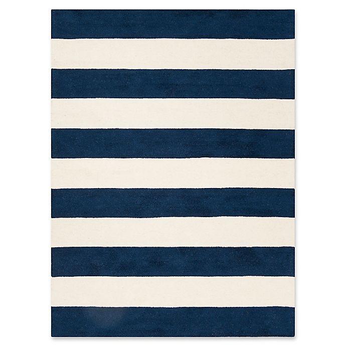 Alternate image 1 for Safavieh Kids® Big Stripe Rug in Navy