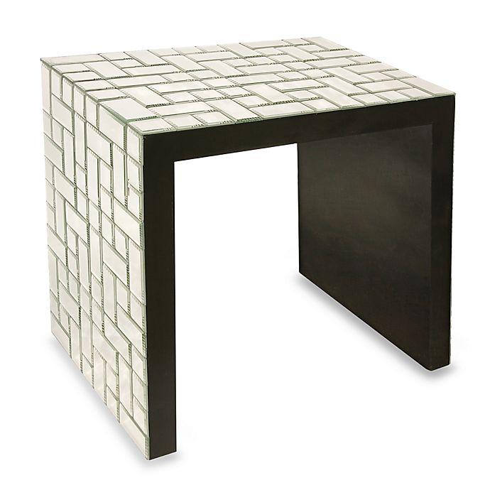 Bassett Accent Chairs 1132.Howard Elliott Mosaic Mirrored Accent Table Bed Bath Beyond