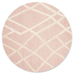 Safavieh Kids® Shapes 5' Round Area Rug in Pink