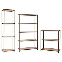 Trinity Bamboo Shelving Rack in Bronze