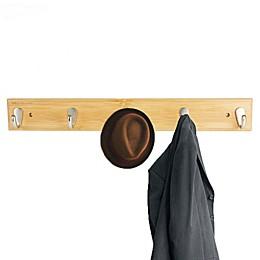 Mind Reader 5-Hook Coat Rack in Brown
