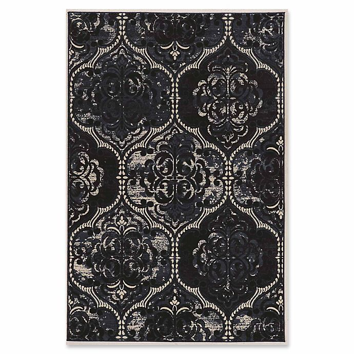 Alternate image 1 for Linon Home Aristocrat Arthur 2' x 3' Accent Rug in Navy