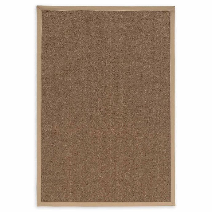 Alternate image 1 for Linon Home Natural Inspirations Faux Sisal 3' x 5' Area Rug in Brown/Beige