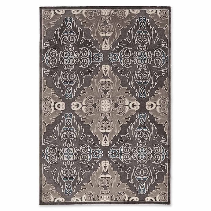 Alternate image 1 for Linon Home Plateau Medallions 2' x 3' Accent Rug in Blue