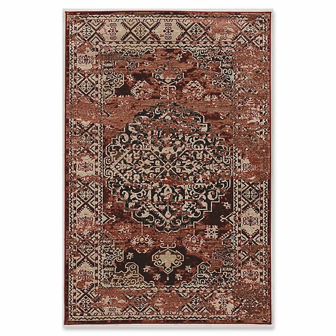 Alternate image 1 for Linon Home Aristocrat Nain 5' x 7'6 Area Rug in Red