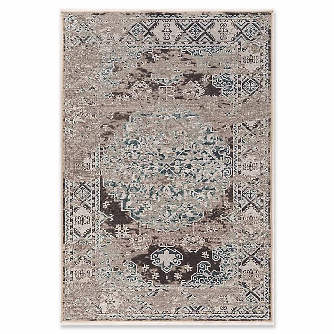 Alternate image 1 for Linon Home Aristocrat Nain 5' x 7'6 Area Rug in Grey