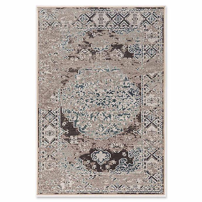 Alternate image 1 for Linon Home Aristocrat Nain 9' x 12' Area Rug in Grey