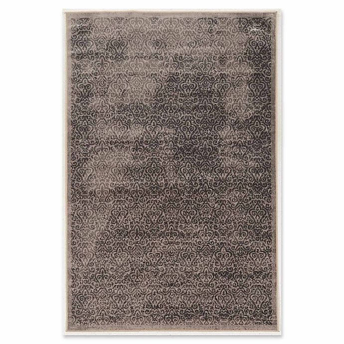 Alternate image 1 for Linon Home Aristocrat Illusion 9' x 12' Area Rug in Grey