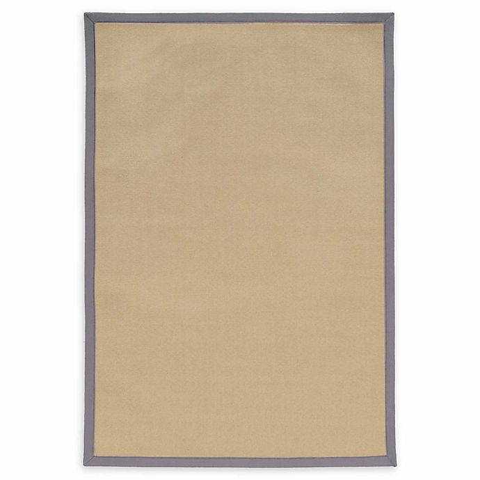 Alternate image 1 for Linon Home Natural Inspirations Faux Sisal 2' x 3' Accent Rug in Natural/Slate