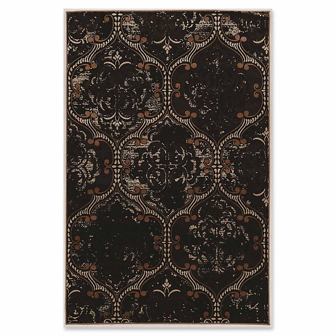 Alternate image 1 for Linon Home Aristocrat King Arthur 9' x 12' Area Rug in Brown