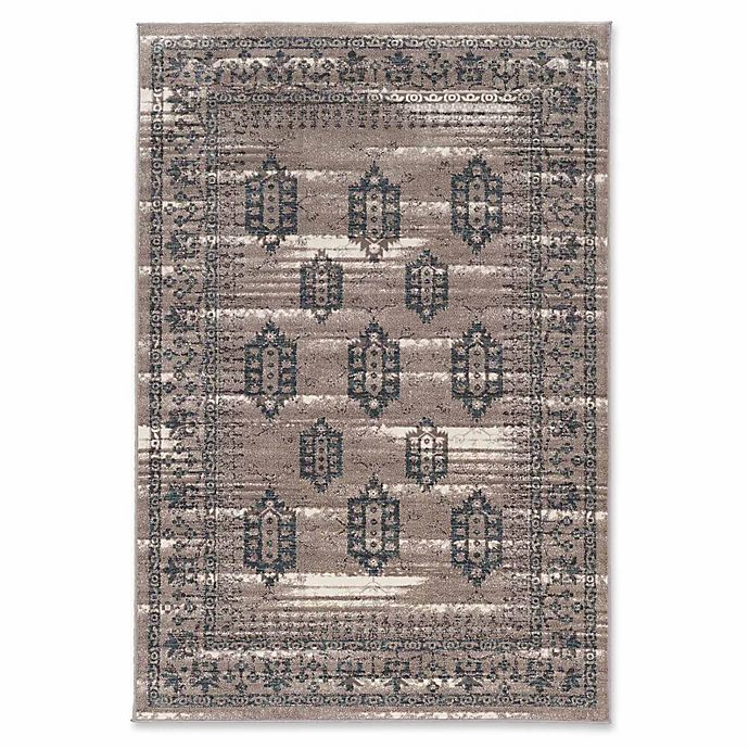 Alternate image 1 for Linon Home Aristocrat Hamadan 9' x 12' Area Rug in Grey