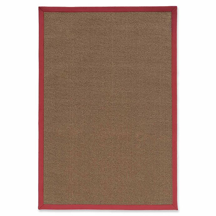 Alternate image 1 for Linon Home Natural Inspirations Faux Sisal 4' x 6' Area Rug in Brown/Red